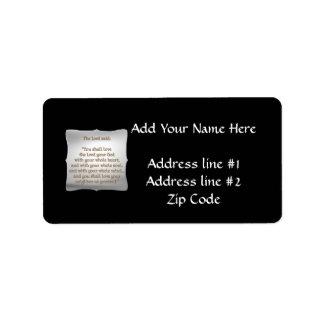 The Greatest Commandment Address Label