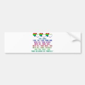 The Greatest Commandment Bumper Sticker