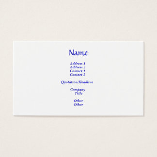 The Greatest Commandment Business Card