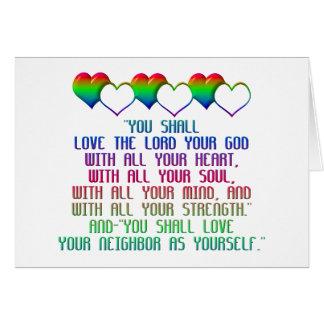 The Greatest Commandment Card
