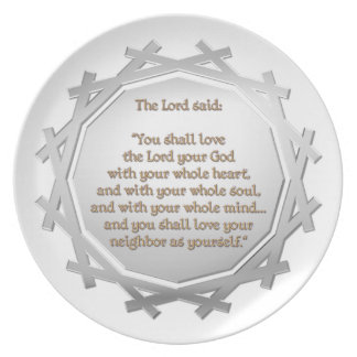 The Greatest Commandment Dinner Plate