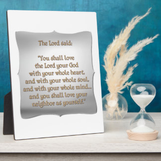 The Greatest Commandment Display Plaques
