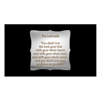 The Greatest Commandment Double-Sided Standard Business Cards (Pack Of 100)