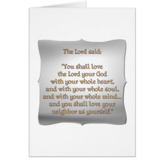 The Greatest Commandment Greeting Card