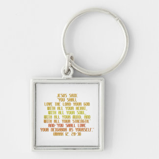 The Greatest Commandment Keychain