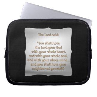 The Greatest Commandment Laptop Sleeves