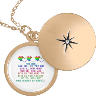 The Greatest Commandment Locket Necklace