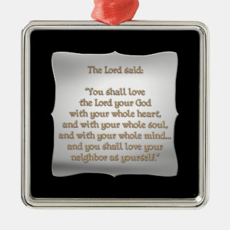 The Greatest Commandment Christmas Tree Ornaments