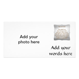 The Greatest Commandment Personalized Photo Card
