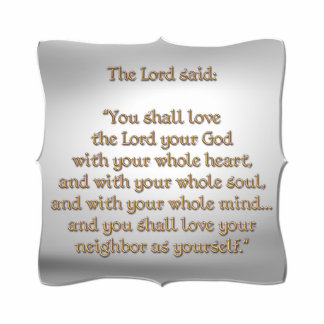 The Greatest Commandment Cut Out