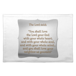 The Greatest Commandment Placemat