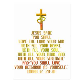 The Greatest Commandment Postcard