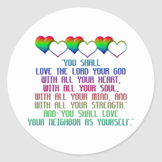 The Greatest Commandment Sticker
