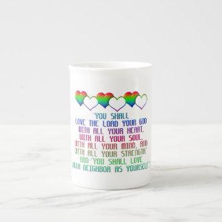The Greatest Commandment Tea Cup