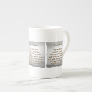 The Greatest Commandment Tea Cup