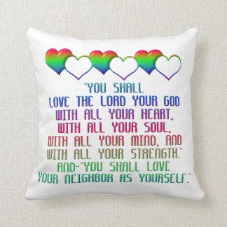 The Greatest Commandment Throw Pillow