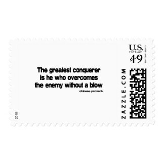 The Greatest Conquerer quote Postage Stamp