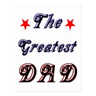 The Greatest Dad Postcard
