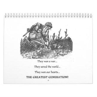 the greatest generation calendar