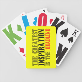 THE GREATEST INSPIRATION IS DEADLINE FUNNY MEME BICYCLE PLAYING CARDS