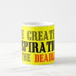 THE GREATEST INSPIRATION IS DEADLINE FUNNY MEME COFFEE MUG