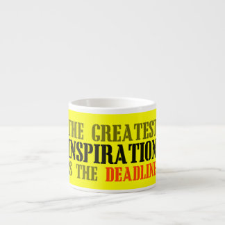THE GREATEST INSPIRATION IS DEADLINE FUNNY MEME ESPRESSO CUP