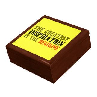 THE GREATEST INSPIRATION IS DEADLINE FUNNY MEME JEWELRY BOX