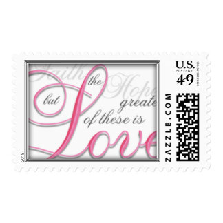 The Greatest is Love Postage Stamp