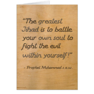 The Greatest Jihad Card