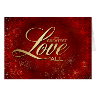 The Greatest Love of All Card