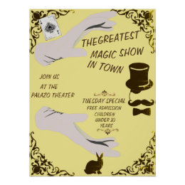 THE GREATEST MAGIC SHOE VINTAGE STYLE POSTER