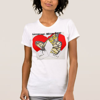 The Greatest Mom Ever with Monarch Boxing Gloves T-Shirt