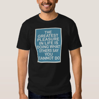 The Greatest Pleasure in Life.. T Shirt