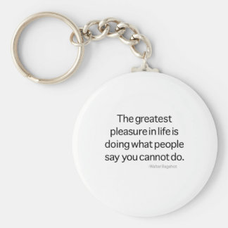 The Greatest Pleasure Keychain