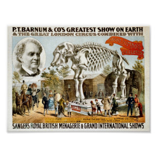 The Greatest Show on Earth 1800 Poster