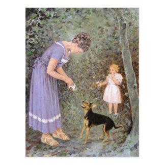 The Greedy Small Dog by Guido Marzulli, Realism Postcard