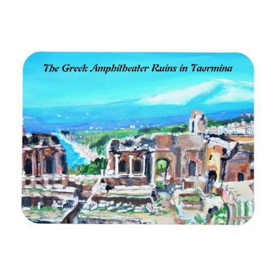 The Greek Amphitheater Ruins Premium Magnet