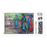 The Greek Dancers Postage Stamps