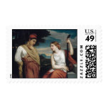 The Greek Lovers - Henry Peters Gray Stamp