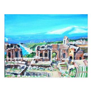 The Greek Theater in Taormina Postcard