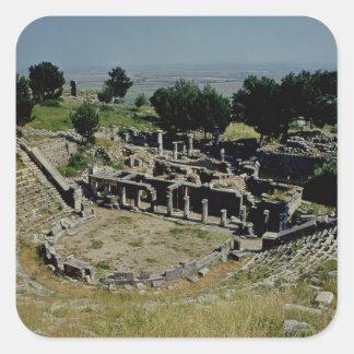 The Greek theatre Square Sticker