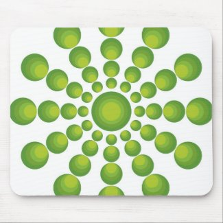The Green 70's year styling Mouse Pad