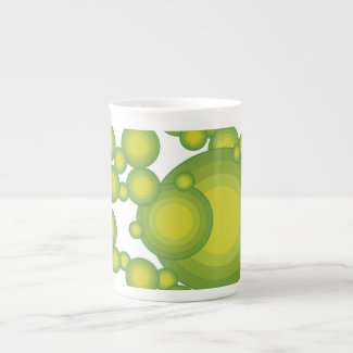 The Green 70's year styling Tea Cup