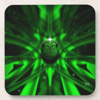 The Green Alien Beverage Coaster