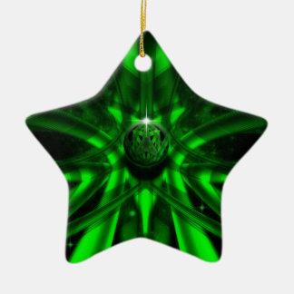 The Green Alien Ceramic Ornament