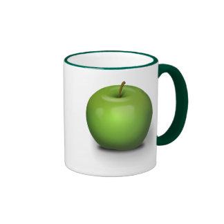 The Green Apple Ringer Mug