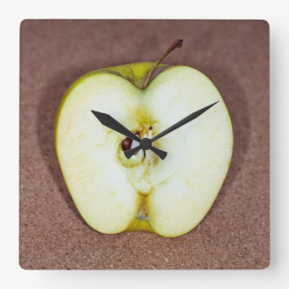 the Green apple Square Wall Clock