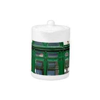 The green balcony teapot