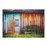The Green Bicycle 1 Wrapped Canvas Canvas Print