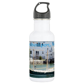 The Green Boat in Kennebunkport Maine Water Bottle